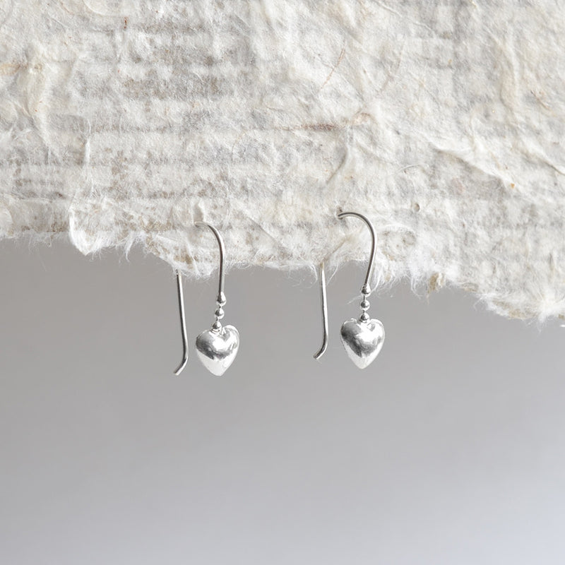 Sterling Silver Sweet Heart Earrings