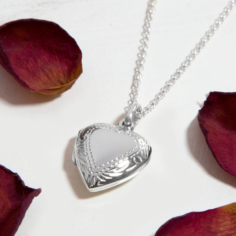 925 Sterling Silver Precious Heart Locket