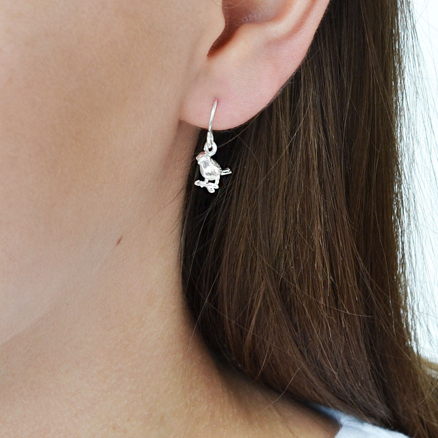 Sterling Silver Little Bird Earrings