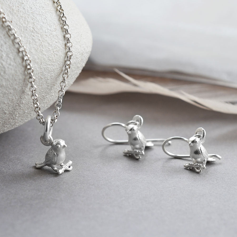 Sterling Silver Little Bird Necklace