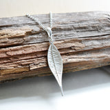 Sterling Silver Lanceolate Leaf Necklace