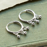 Sterling Silver Petite Ball Hoops