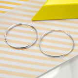 Sterling Silver 4.5cm Hoop Earrings