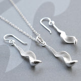 Silver Falling Leaf Jewellery by Martha Jackson