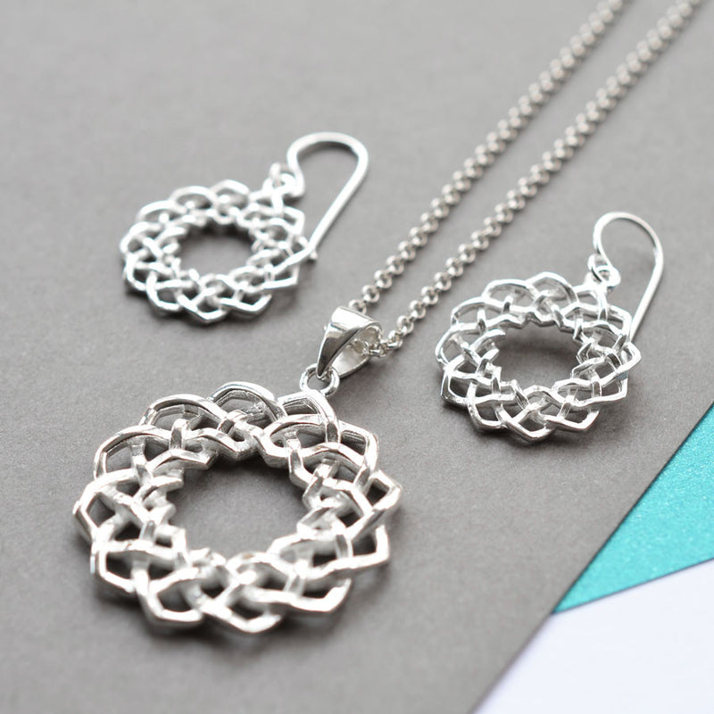 Silver Celtic Love Knot Jewellery by Martha Jackson