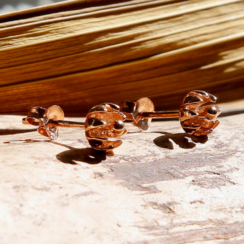 Rose Gold Plated Tiny Flower Studs