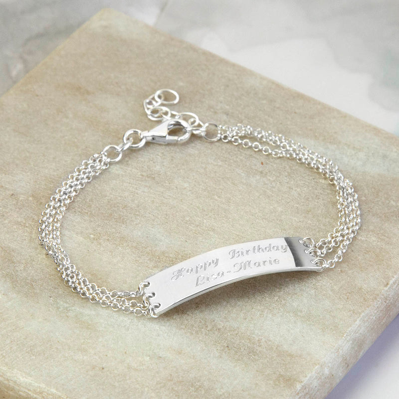 Engravable Sterling Silver Chain Bracelet