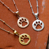 Gold Plated Paw Print Necklace