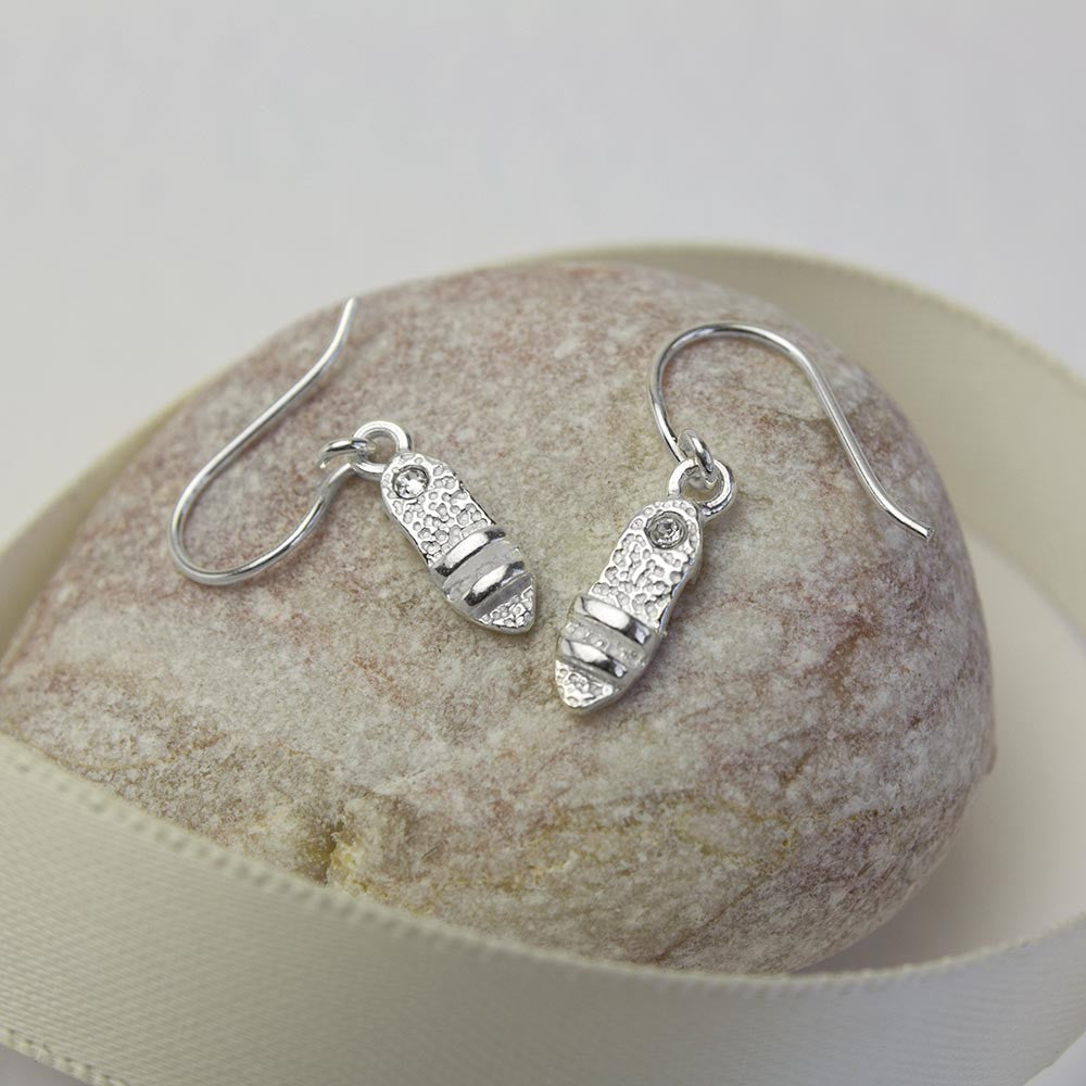 Sterling Silver Summer Sandals Earrings