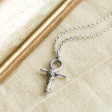 Sterling Silver Egyptian Ankh Serpent Necklace