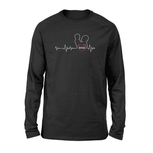 Dad Beat Heart Long Sleeve - Family Presents