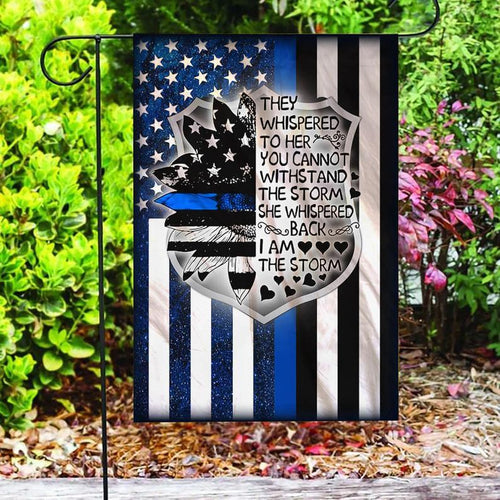 Police Flag, Law Enforcement, Blue Lives Matter, Police Officer, Back The Blue, Support Local Police Yard And Outdoor Decor, Garden Decor - Garden Flag