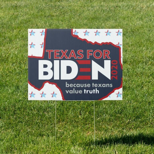 Texas for Biden 2020 Election Lawn Stake - Yard Sign