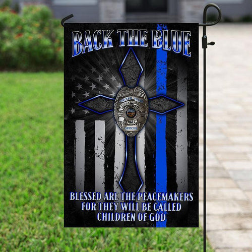 Police Flag, Law Enforcement, Blue Lives Matter, Police Officer, Back The Blue, Support Local Police Yard Decor, Outdoor Decor, Garden Decor - Garden Flag
