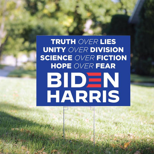 Truth Over Lies Biden Yard Sign