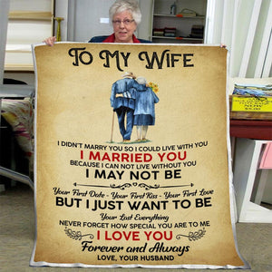 To My Wife I Didn't Marry You Blanket Couple