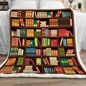 Book Lovers Blanket - Book Shelf Blanket