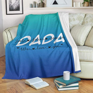 Customizable Dad Minky Blanket