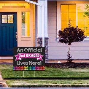 Back to School Yard Sign, First Day of School, 1st Day Back, Elementary School, Chalkboard Sign, Grade School, Kindergarten