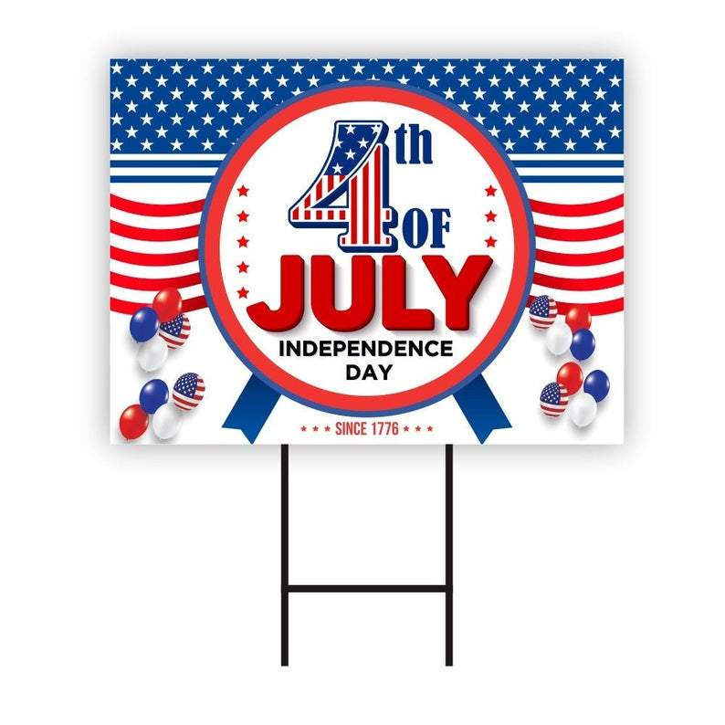 Happy 4th of July Yard Sign 24
