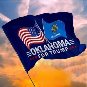 Oklahoma For Trump Garden Flag, House Flag