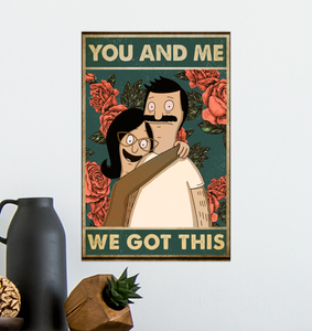 Canvas Prints - Happy Couples - You& Me We Got This - Best Gitf for Anniversary, Birthday, Great Decorating Ideas
