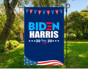 Garden Wall House Flag - Biden Harris 2020 Vote for President Kamala Harris