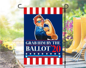 Grab Him By The Ballot 2020 Vote President 2020 Biden Kamala Harris Yard - Garden flag House Flag