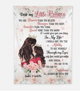 Personalized Blanket - Gift for little daughter - Birthday gift, Christmas gift - Custom with your names - I'll always be with you