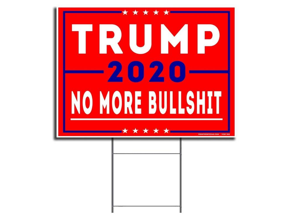 "President Donald Trump - Keep America Great! - 2020 Political Campaign Rally Yard Sign (24""x18"") Included Metal Stake"