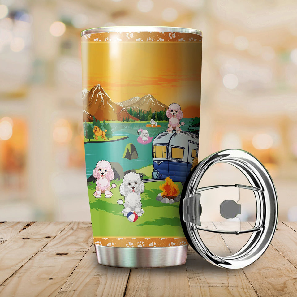 Poodle Camping Stainless Steel Insulated Tumbler Cups
