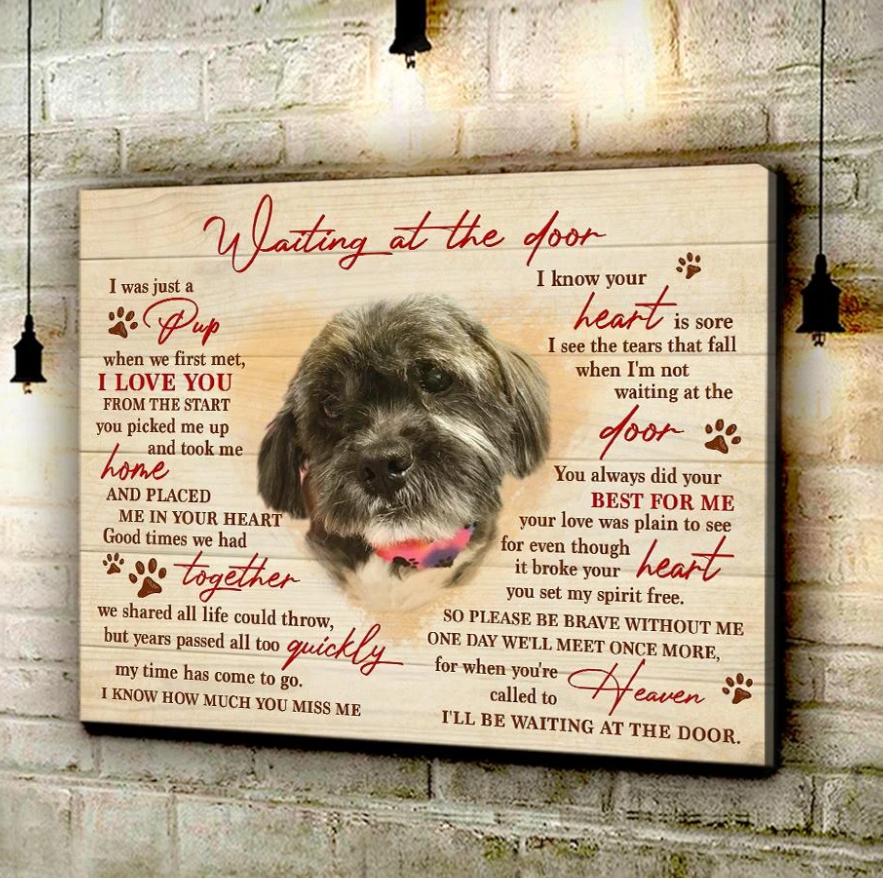 CANVAS - CT2 - Waiting At The Door Wall Art Canvas  -Birthday, Christmas gift