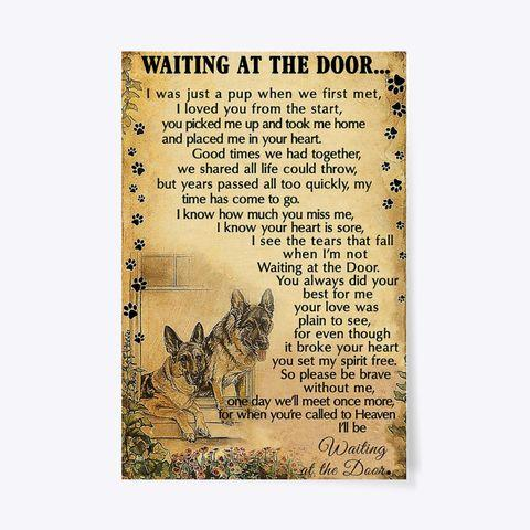 Dog friend canvas - Waiting at the door - One day we'll meet more once