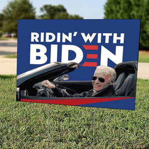 Ridin' With Biden | Yard Sign | Biden 2020 | Democrat | Elections | Liberal | USA | Print | Gift | Never Trump