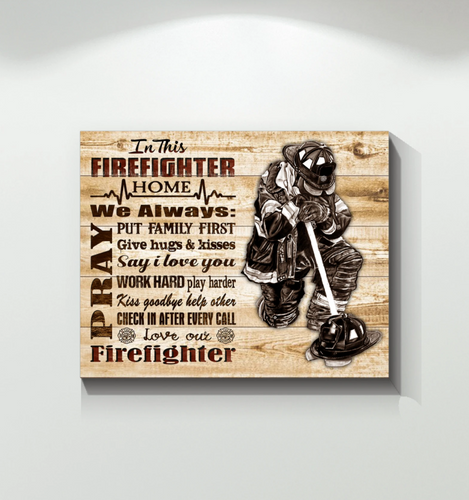 GL - Canvas - Firefighter - In this firefighter home Wall Art Canvas