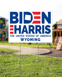 Wyoming for Biden Harris 2020 - Yard Sign