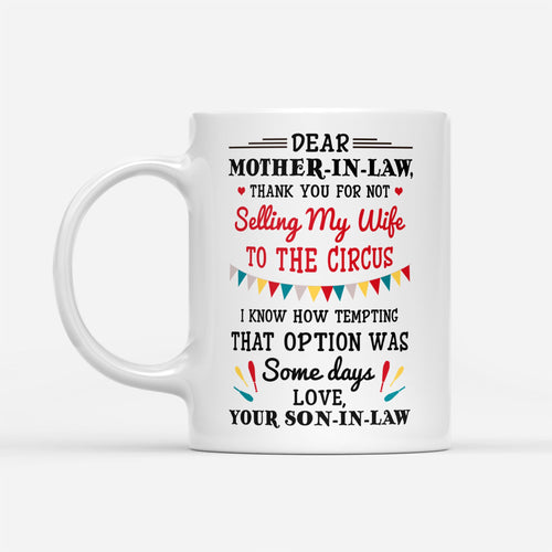 mother-in-law not selling my wife mug-Thanh - White Mug