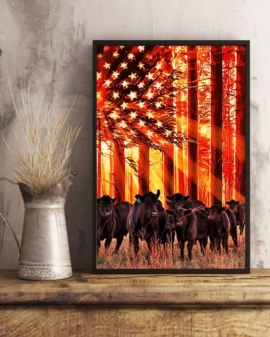 Cow sunshine Independence Day - Canvas