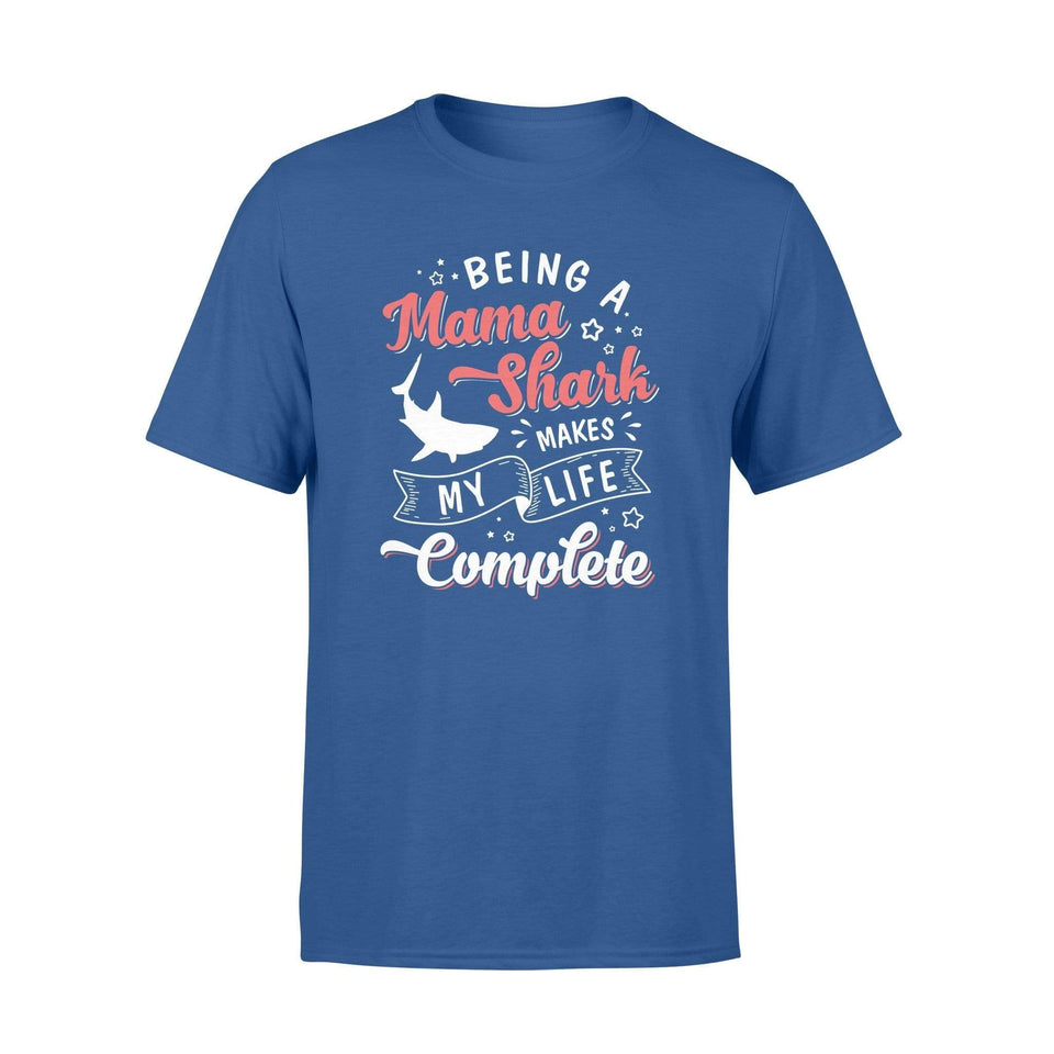 Being A Mama Shark Premium T-shirt - Family Presents