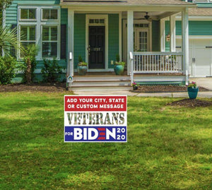 Personalized Yard sign - Customized Veterans For Biden Harris Political Yard Sign