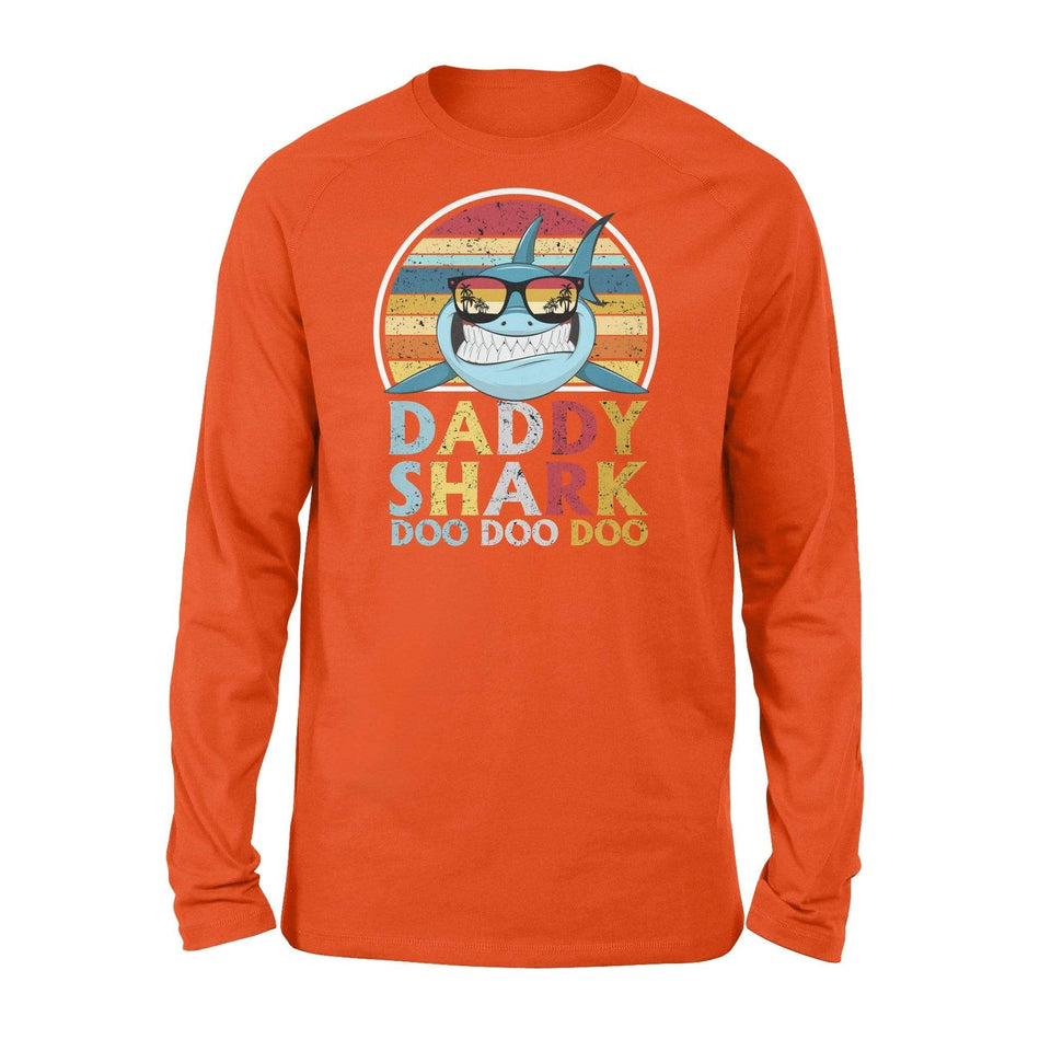 Daddy shark Doo Doo Doo - Long Sleeve for men/women - Family Presents