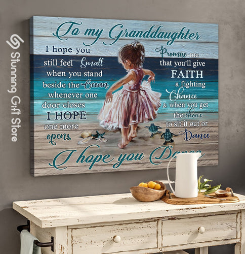 Gorgeous Beach Canvases Wall Art Wall Decor Gift Idea For Granddaughter - I Hope You Dance