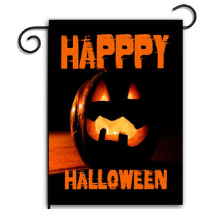 Happy Halloween Scary Jack O Lantern Apartment Garden Flag -  Garden Flag House Flag