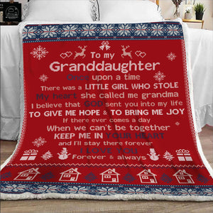 Blanket to my granddaughter - Gift for birthday, christmas - God sent you into my life to give me hope