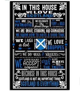 SCOTTISH HOUSE Vertical Canvas