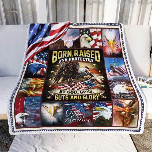 Proud American Patriot. Eagle Fleece Blanket