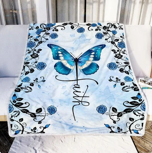 Faith Butterfly Blanket - Special gift for your family