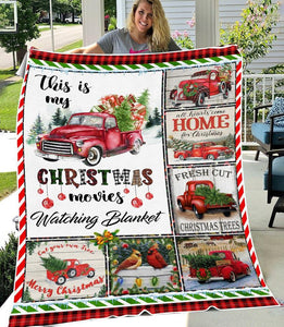 This Is My Christmas Movies Watching Blanket | Fresh Cut Christmas Trees | Merry Christmas Gifts - Anniversary Birthday Christmas Housewarming Gift Home Decor