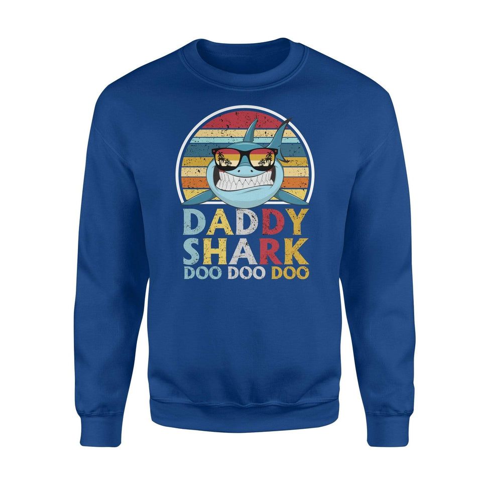 Shark Daddy Fleece Sweatshirt - Family Presents