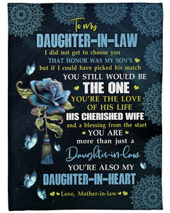 YOU'RE THE LOVE - SPECIAL GIFT FOR DAUGHTER-IN-LAW Blanket - You are more than just a daughter-in-law